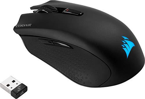 Corsair Harpoon Kabellose RGB Wiederaufladbare Optisch Gaming-Maus (mit SLIPSTREAM Technologie, 10.000DPI Optisch Sensor, RGB LED Hintergrundbeleuchtung) schwarz - 16
