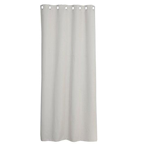 Levivo Cortina térmica opaca/cortina de oscurecimiento con ojales metálicos, cortina de protección visual, fijación sencilla a la barra de la cortina, Gris, aprox. 245 x 135 cm