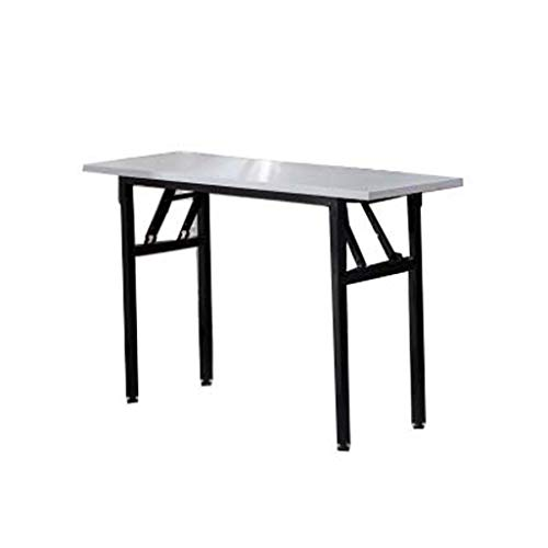COUYY Einfacher Klapptisch Stall Lange Training Table Büro Konferenztisch Event Promotion Tabelle,Weiß,1.5 * 0.4M