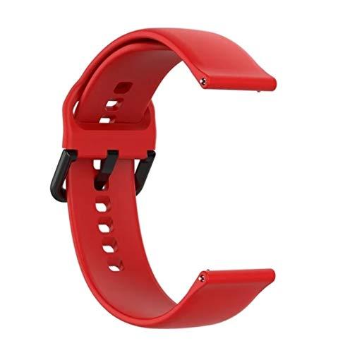 Pulsera de silicona para Xiaomi Amazfit Gts Bip Gtr, correa de muñeca de 42mm para reloj inteligente Xiaomi Amazfit GTS 2 BipS para Garmin Vivoactive3 (Red)