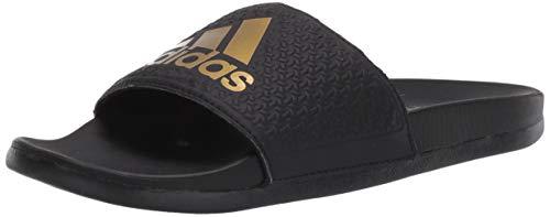 adidas Men's Adilette Comfort Slide Sandal Black, ((7 M US)