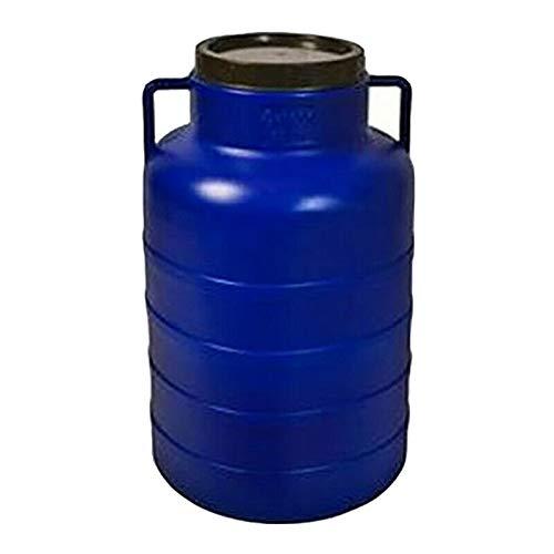 Weithalsfass 60 Liter blau Schraubdeckelfass Mostfass Wasser Saft Federweiser Griffhenkel Regenfass Tonne Kunststoff Plastik Fass