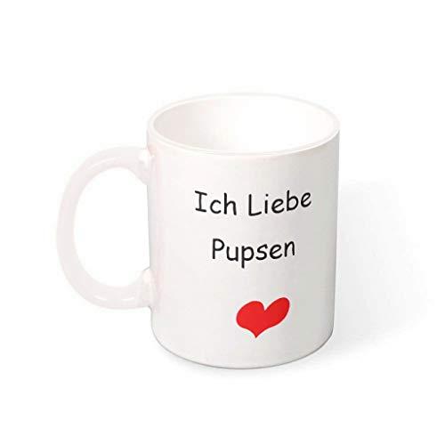 NC83 11 oz Ich Liebe Pupsen water muesli beker met handvat keramiek grappige beker - grappig verjaardagscadeau Chanukka cadeau, voor familie gebruiken