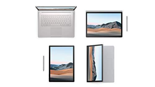 Microsoft Surface Book 3, 15 Zoll 2-in-1 Laptop (Intel Core i7, 32GB RAM, 1TB SSD, Win 10 Home) + Surface Pen Platin Grau