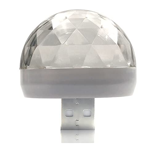 Coche Techo Estrella luz Interior LED Galaxia atmósfera luz Interior proyector de Techo lámparas de neón Accesorios portátiles (Emitting Color : Apple Transfer Head)