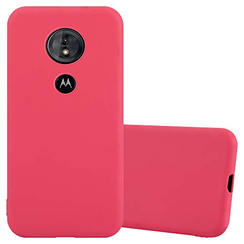 Cadorabo Coque pour Motorola Moto E5 / G6 Play en Candy Rouge - Housse Protection Souple en Silicone TPU avec Anti-Choc et Anti-Rayures - Ultra Slim Fin Gel Case Cover Bumper