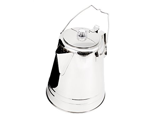 GSI Outdoors Glacier Stainless Steel 8 Cup Percolator