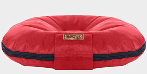 Hundebett Hundebetten Für Große Hunde Runde Oxford Schlafmatte Pad Waschbar Big Size Cat Dog wasserdichte Sofas Matte Für Alle Jahreszeiten M Rot