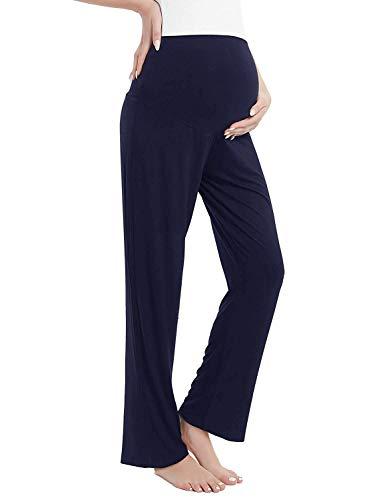 Amorbella - Pantaloni lunghi da donna, per maternità, gravidanza, per yoga, pigiama Marina Militare XXL