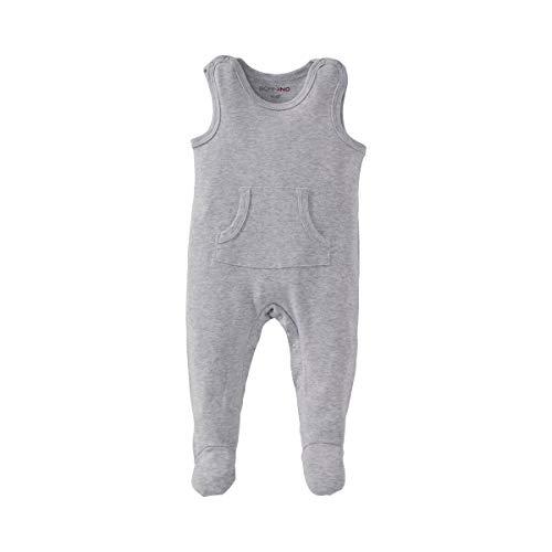 Bornino Strampler - Baby-Overall aus Reiner Baumwolle -mit Kängurutasche und Druckknöpfen für EIN einfaches An- & Ausziehen - einfarbig