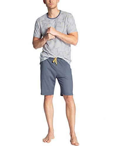 CALIDA Herren Casual Easy Zweiteiliger Schlafanzug, Grau (Grisaille Grey 988), X-Large (Herstellergröße:XL)