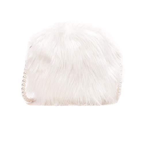 XUHANG Women's Faux Fur Crossbody Wallet Purse Tote Satchel Shoulder Bag