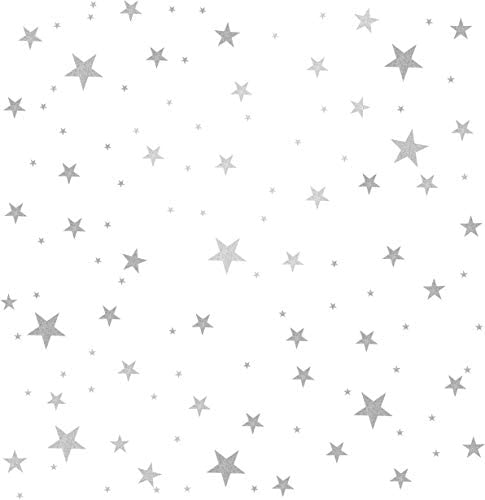 Star Wall Decals 3 Size Stars 132pcs Decals Kids Nursery Wall Room Decor Peel and Stick Star product image