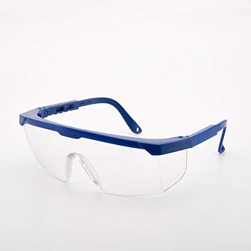 Leichte Männer Frauen Stoßfeste Industrieschutzbrille Anti-Infrarot-Schutzbrille PC-Linsen (Blau
