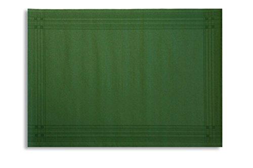 Morigami Mantel Individual, 30 x 40 Cm, Gofrado, 44 Gramos, Cenefa Verde, Set de 800 unidades