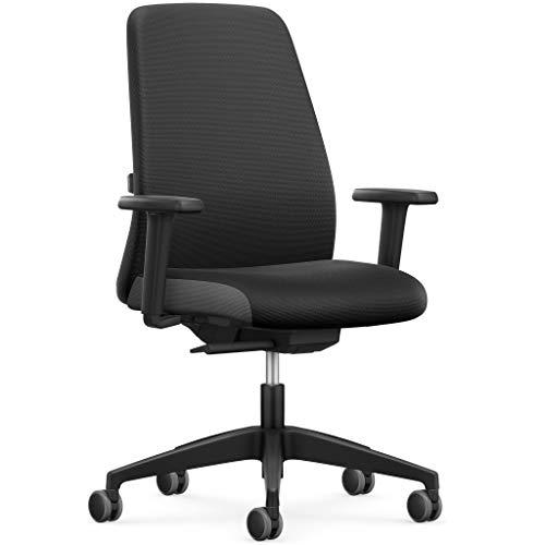 Interstuhl Bürostuhl – Bürodrehstuhl Made in Germany für das Büro/Zimmer/Wohnung/Schreibtischstuhl mit Perfekter Ergonomie für langes Sitzen (Modell Every Polsterrücken)