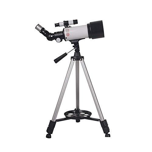 Telescopio, telescopio niños y Principiantes, Apertura Transparente de 70 mm (2.4 ''), Distancia Focal de 400 mm, binoculares niños exploración Lunar y observación de Aves, portátiles, Principiante