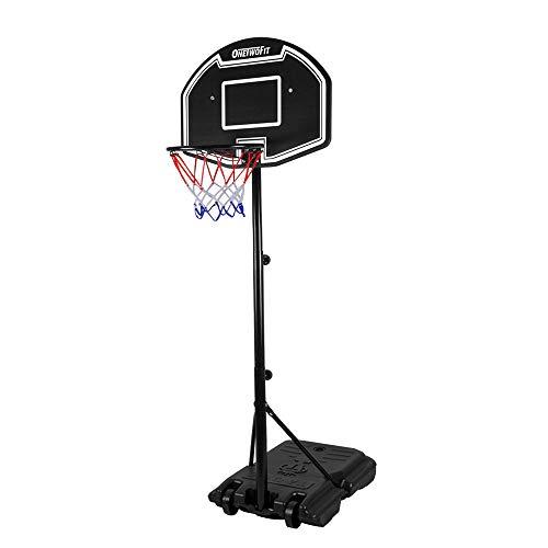 ONETWOFIT Teenagers Kids Basketball Hoop System Adjustable Height 44.5
