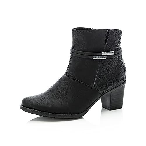 Rieker Damen Klassische Stiefeletten Z7684, Frauen Stiefeletten,Woman,Lady,Ladies,Boots,Stiefel,Booties,halbstiefel,schwarz (00),41 EU / 7.5 UK
