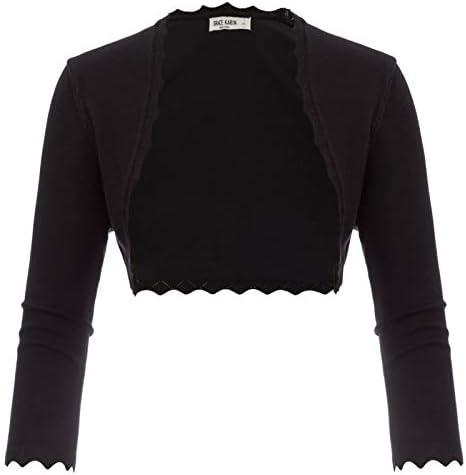 GRACE KARIN Women Open Front Knit Bolero Shrug Cardigian Black Size XL CL960 1 product image