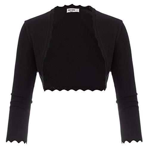GRACE KARIN Cropped Bolero Shrug Jacket for Dress Cami Black Size L CL960-1