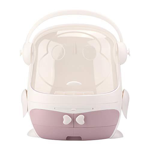 Caja de almacenamiento de cosméticos portátil, caja organizadora de cosméticos, desmontaje flexible multifuncional para encimera de baño