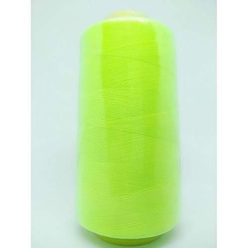 Hilo de coser de poliéster 4000 mt resistente para cortar y coser - Giallo fluorescente