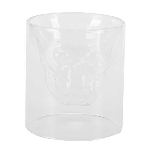 Copa de vino, cristalería Copa de cerveza en forma de calavera Copa de vino de 250 ml, para reuniones familiares en el hogar KTV Bar Club