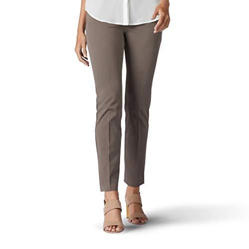 Lee Women's Sculpting Slim FIt Slim Leg Pull-On Pant, deep breen, 16 (Keela Scuffer Trousers Best Price)