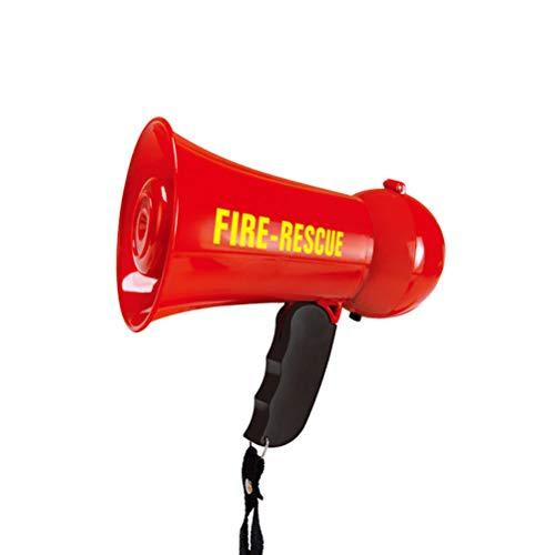 BESTOYARD Mini Megaphone Fire Fighter's Bullhorn Siren Sound Juguete (Rojo)