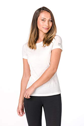 super. Natural W Base 175 Femme en Laine mérinos T-Shirt M Fresh White