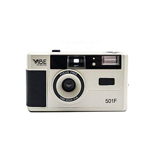 Riiai Vibe Photo 501F - Cámara de fotos (35 mm, incluye bolsa incluida), color plateado