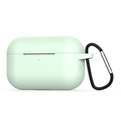 para AirPods Pro Funda Coque Earpods para Airpod Pro Funda para Apple Air Pods Pro Earbud Caja de Carga Funda Etui-Verde Claro