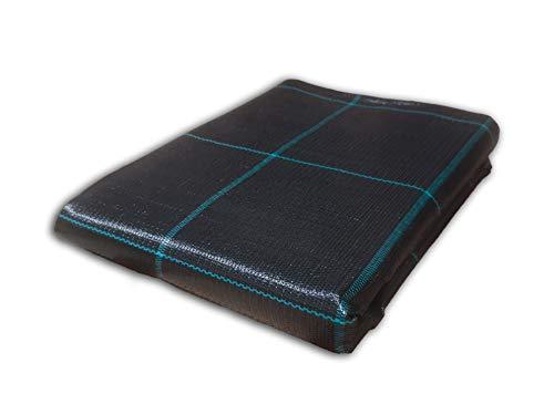 Seinec Malla/Tela Antihierbas Negra 10m² (2 x 5m). Resistente a Roturas. con Protección UV para el Control de Maleza en Jardín y Huertos Ecológicos. Ocultación. Polipropileno (PP)