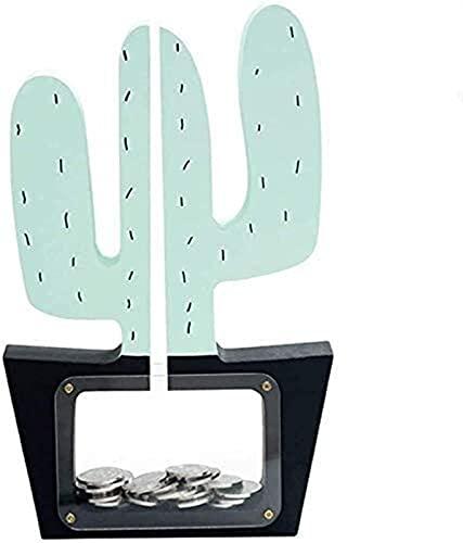 SHOP YJX Bank en Forma de Cactus, Caja de Monedas, Mejor opción para Navidad/Año Nuevo/Cumpleaños/Housewarming 25x16cm Ahorro de Monedas