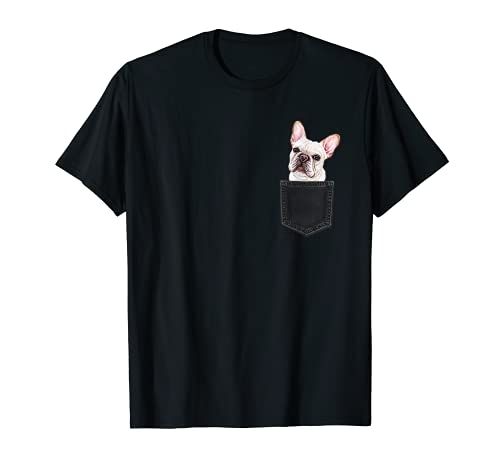 FRENCH BULLDOG In A Pocket Cute FRENCHIE Dog Owner Gift T-Shirt