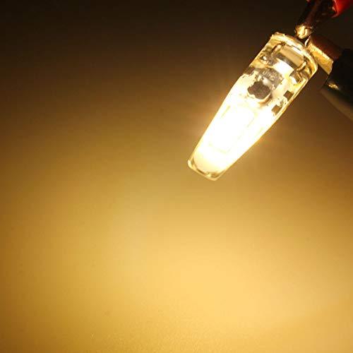 NHDY Mini Jupe G4 LED Ampoule de maïs 2W 6 SMD 2835 Lampe en Cristal en Silicone DC12V 0916 (Color : Warm White)