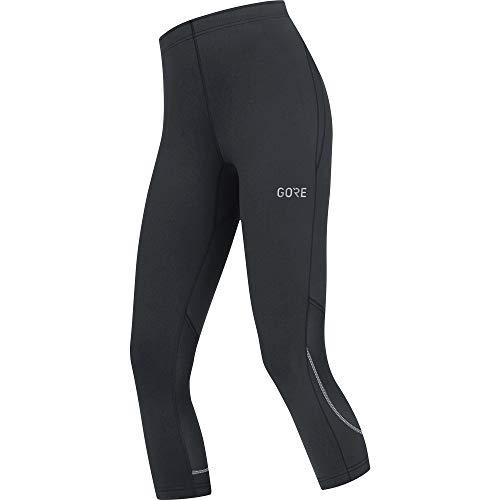 GORE WEAR R3 3/4-lange Damen Hose, 38, Schwarz