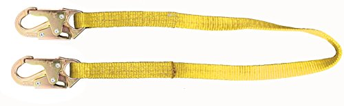 MSA SWL3268704LS ANSI & CSA-Certified Web Restraint Lanyard with 36C Steel Snap Hook, 1-Inch x 4-Feet Fixed Length Nylon Rope