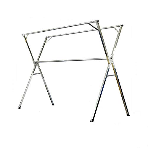 Perchero plegable de acero inoxidable para balcón, tendedero plegable Pegasus, para exteriores, 200 cm
