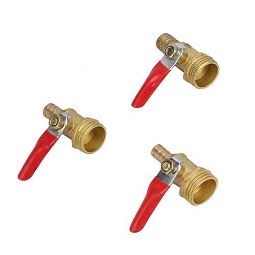 NNMB Duradera 1/2'Hilo Masculino a 8 mm 10 mm 12 mm Conexión de tubería de sujeción de la Manguera de la válvula de Bola de latón del Tubo de Cobre Adaptador de Acoplamiento Fácil de Usar y