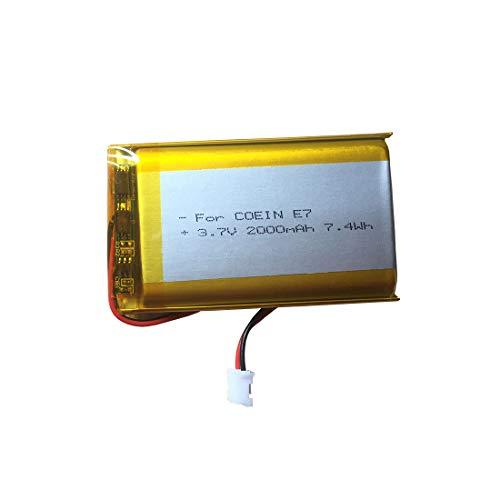 3,7 V Lithium-Polymer-Batterie 2000mAh Ersatzbatterie für COWIN E7, E7 Pro Bluetooth Kopfhörer Batteriewechsel und Sony PS4 CUH-ZCT1E ZCT1U Controller Batteriewechsel