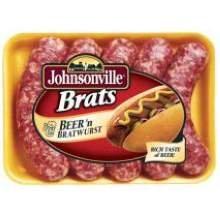 Johnsonville 4:1 Precooked Beer Bratwurst, 5 Pound -- 2 per case.