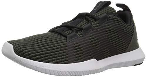 Reebok Men's Reago Pulse Cross Trainer, Dark Cypress/Black/Porcelain, 11.5 M US