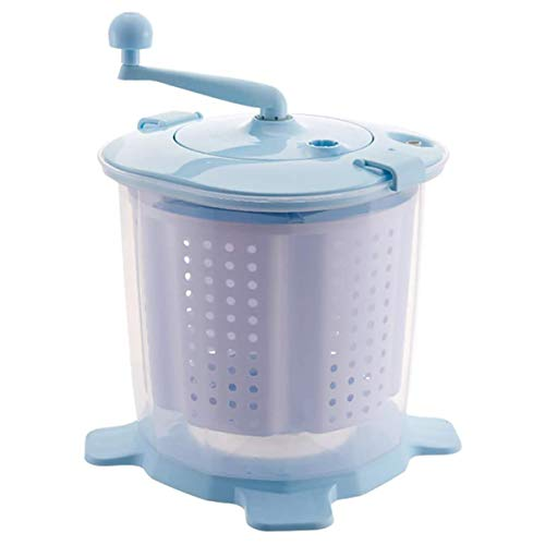 GXLO Manuelle Waschmaschine Tragbare Handbetriebene Handcranking Mini Washer Nichtelektrische für Camping Dorms Apartments College-Zimmer,A