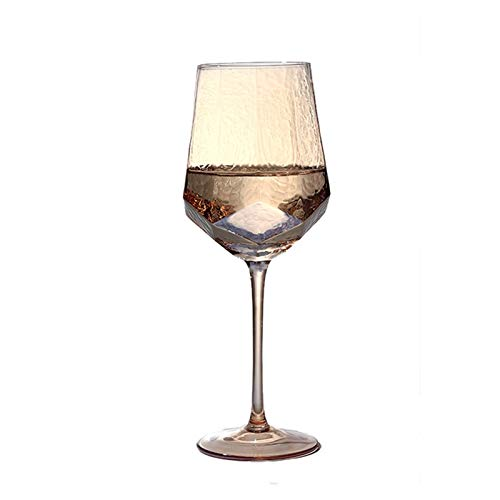 Danghe Forma de Phnom Penh Diamond Copa de Vino Cristal de Plomo Libre de Champagne Cristal de la Vendimia Hecha a Mano cáliz Taza de Agua Vasos Fiesta de la Boda (Color : M10 Amber)