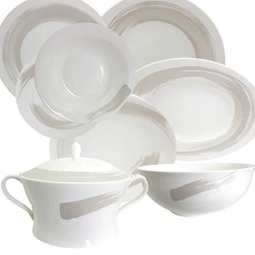 piatti servizio japan Narumi Pearl Brush Primo Servizio TAVOLA 41PZ Piatti Bone China Porcelain Japan Porcellana Bone China