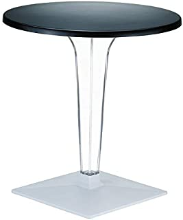 Compamia Ice Werzalit Top Dining Table with Transparent Base