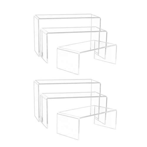 EXCEART 6Pcs Sonnenbrillen Regalständer Transparent Acryl Riser Rack Mehrzweck U-Form Brille Brieftasche Figuren Displayhalter für Home Shop
