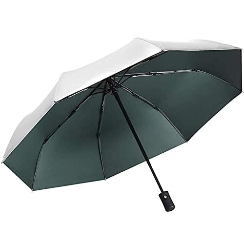 FZYE Paraguas Plegable de Viaje, Ligero, 8 Varillas, toldo automático a Prueba de Viento Compacto con Aumento de Apertura y Cierre automático con un botón, protección Solar y protección